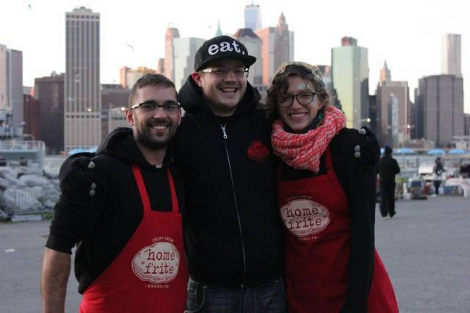 Ian Vernon '00, Caroline Lingle '03 and Max Hawk '00 went on to open their own gourmet French fry stand in Broklyn, N.Y.—Home Frite.
